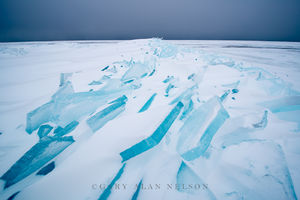 ice, lake superior, minnesota, blue