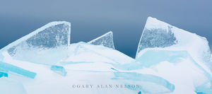 Slabs of Ice and Gray Skies