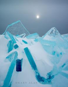 ice, sun, lake superior, minnesota