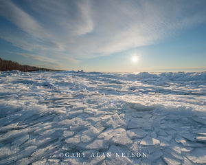 Sunrise over Ice Covered Superior