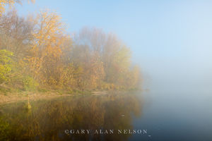 fog,m st. croix river, minnesota, national scenic river
