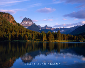 Glacier National Park, Montana, Swiftcurrent Lake, Mt.Wilbur