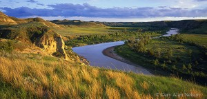 Theodore Roosevelt National Park, North Dakota, little missouri river, prairie grass, little bluestem