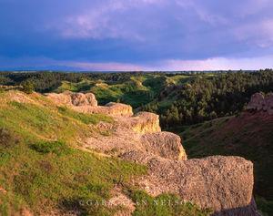 Bluffs and Cliffs in Nebraska Badlands