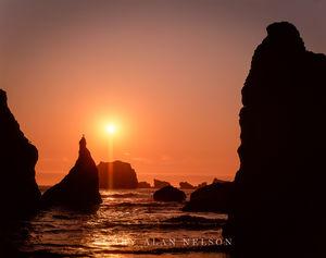 Bandon, Oregon, seastacks, pacific ocean