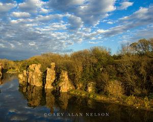 quartzite rocks, palisades, cliffs, state park