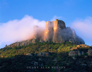 Big Bend National Park, Texas, fog, casa grande