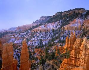 Bryce Canyon National Park, Utah, snow