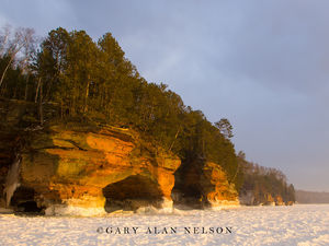 Apostle Islands National Lakeshore, Wisconsin, winter, sea caves, lake superior