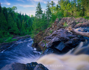 Pattison State Park, Wisconsin, falls, black river