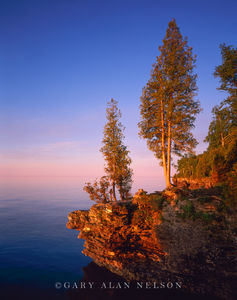Door County, Lake Michigan, Wisconsin, cave point