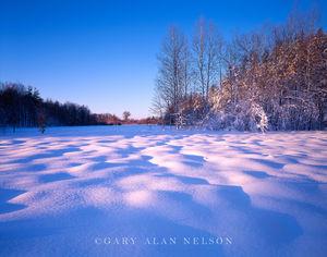 Fish Lake State Wildlife Area, Wisconsin, snow