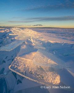 Waning Light on Slabs of Ice