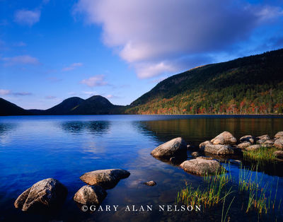 maine, national park, acadia, pond,hills reflecting