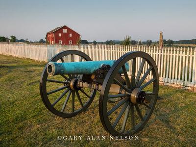 gettysburg, cannon, barn, fence, civil war