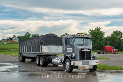1957 Mack H63 and 1964 Brown 401 Flatbed Trailer