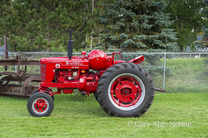 Farmall, antique tractor, photo