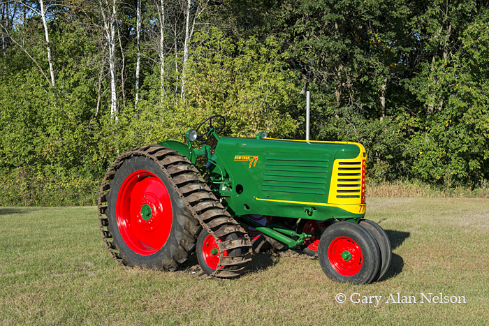 antique tractors,oliver, half track, model 77, photo