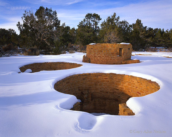 colorado, mesa verde, national park, snow, ruins, photo