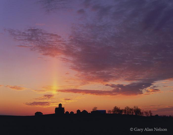 iowa, farm, sunset, sun, photo