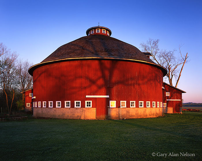 Tree Shadow On Round Barn Fulton County Indiana Gary