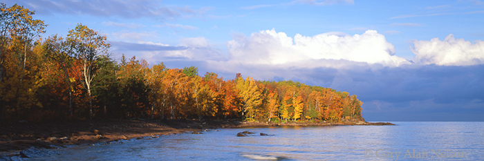 autumn, michigan, lake superior, porcupine mountains, photo