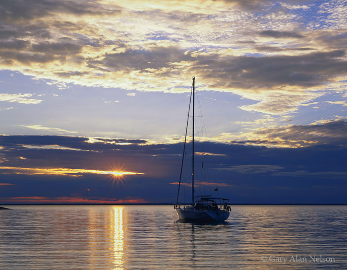 michigan,sailboat, lake michigan, sunrise, photo