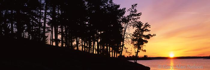 voyageurs national park, dawn, minnesota, lake, photo