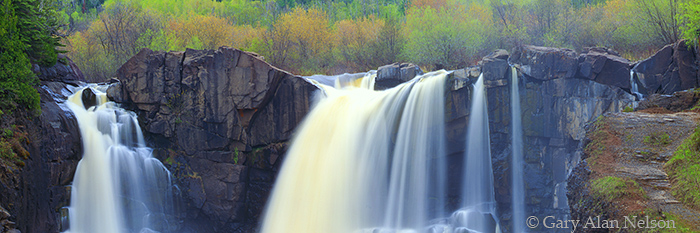 pigeon river high falls, minnesota, grand portage, state park, canada, photo