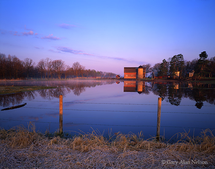 barn, reflections, minnesota, pond, rural, photo