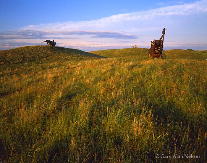 minnesota, threshing machines, hill, photo
