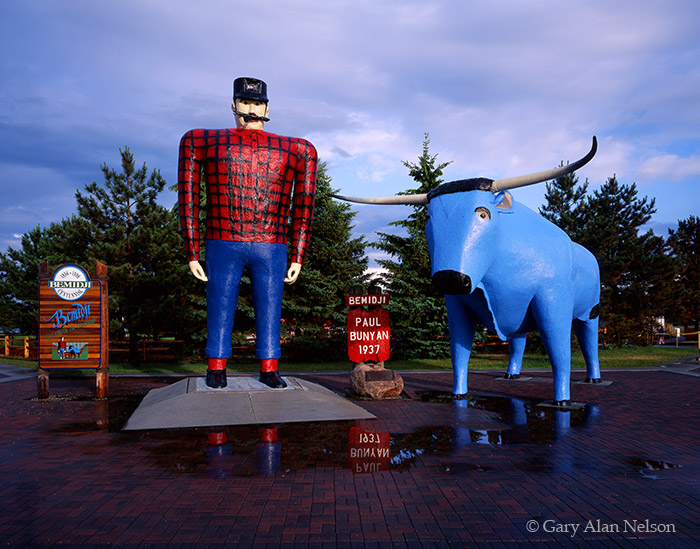 minnesota, paul bunyon, blue ox, photo