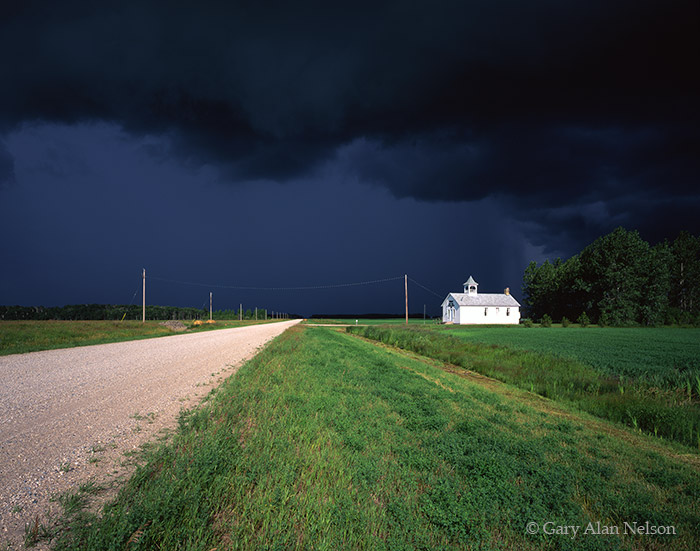 minnesota, town hall,schoolhouse, skies, photo