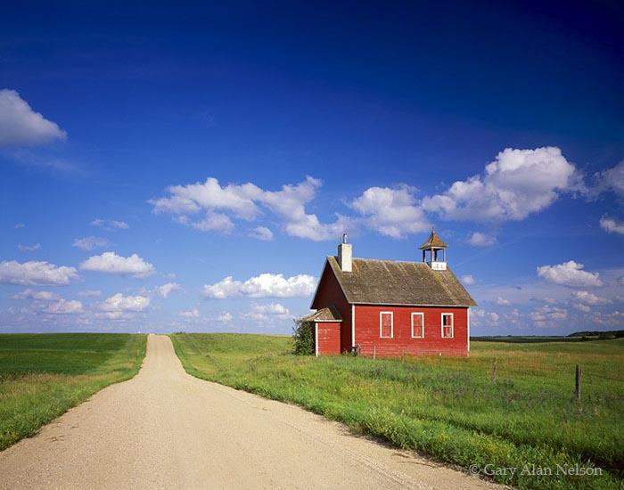 otter tail, minnesota, red, schoolhouse, prairie, photo