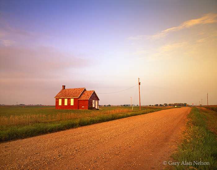 minnesota, schoolhouse, country road, photo