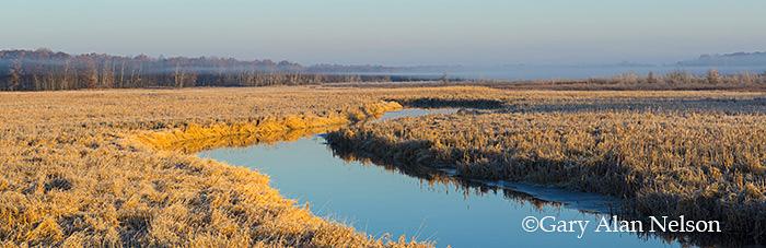 The Sunrise River in autumn, Carlos Avery Wildlife Management Area, Minnesota