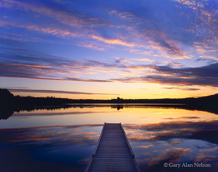 Samuel De Champlain Provincial Park, Ontario, Canada, dock, dusk, photo