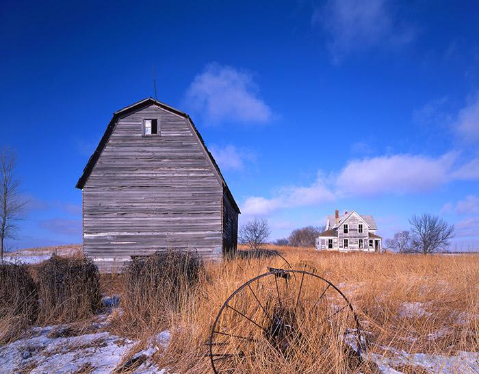 South dakota, farm, old dwelling, photo