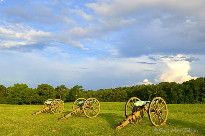 shiloh, tennessee, national military park, canons, peach orchard, photo