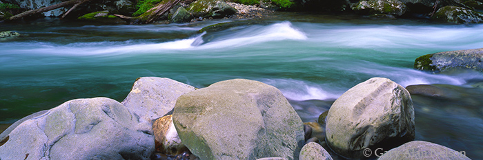 little pigeon river, great smoky mountains national park, tennessee, photo