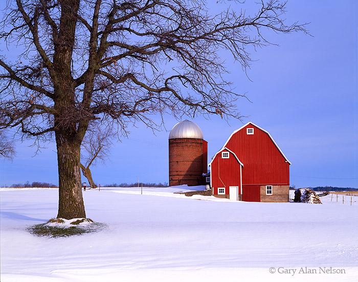 snow, wisconsin, barn, photo