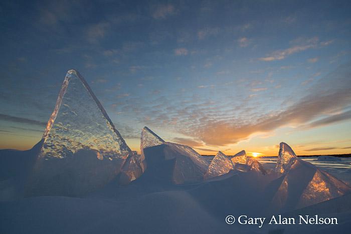 Slabs of Ice on Lake Superior, Madeline Island, Apostle Islands National Lakeshore, Wisconsin