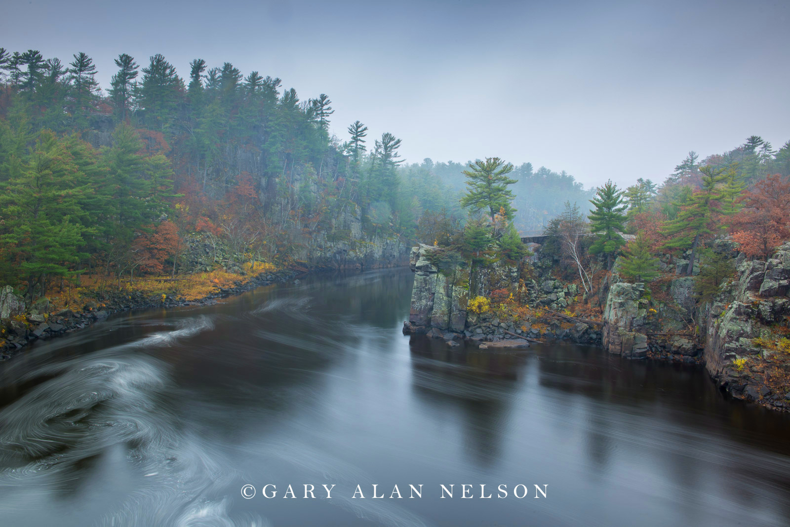 Fog along the Dalles of the St. Croix National Scenic River, Minesota/Wisconsin