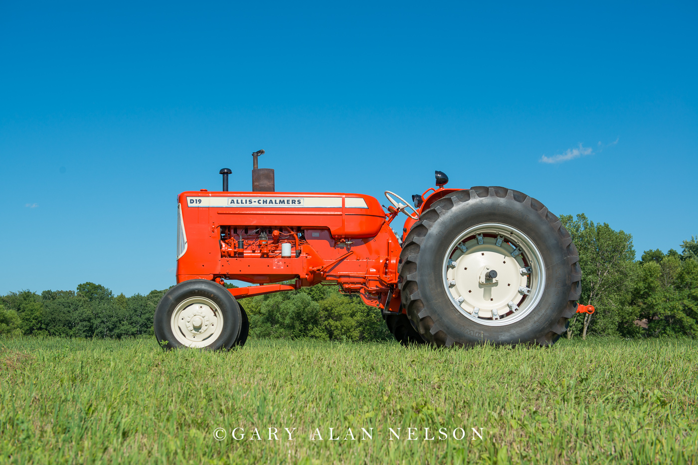 Allis Chalmers, antique tractor, photo