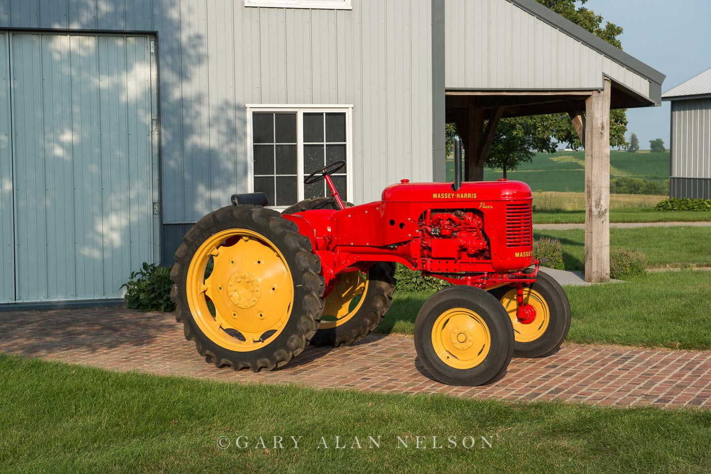antique tractor, Massey-Harris, photo