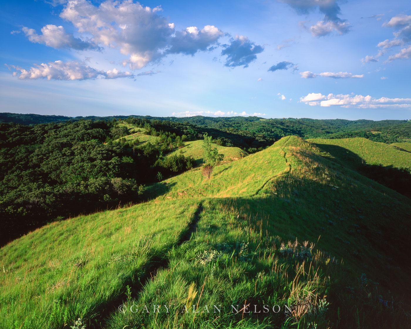 loess hills, iowa, photo