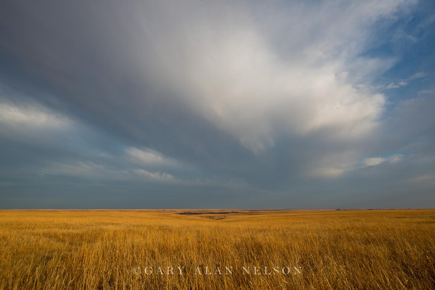tallgrass prairie, flint hills, kansas, clouds, photo