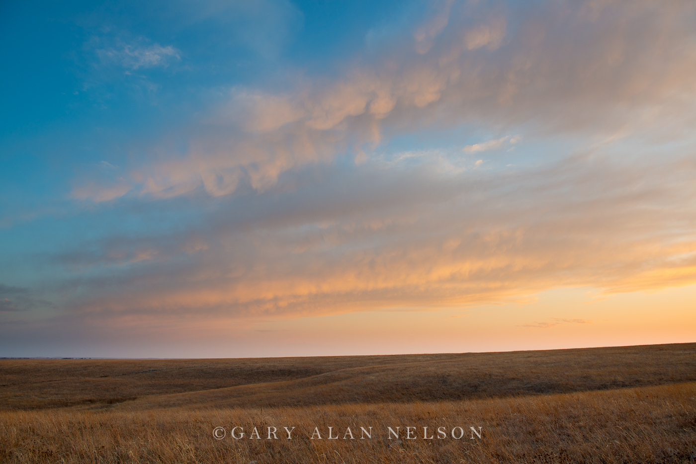 tallgrass prairie, flint hills, kansas, clouds, dusk, photo