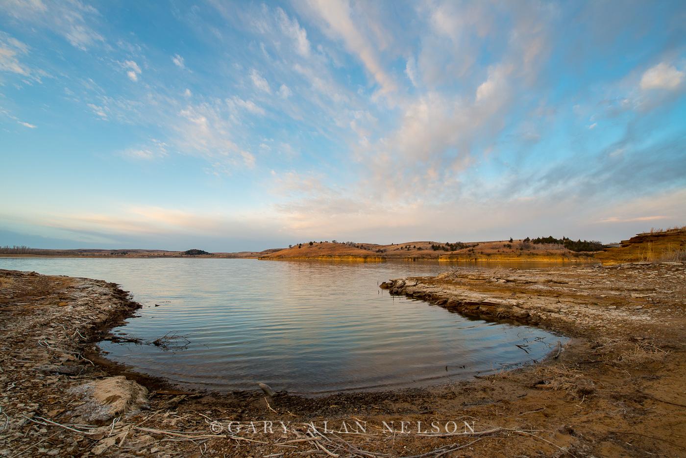 shore, wilson lake, kansas, state park, photo