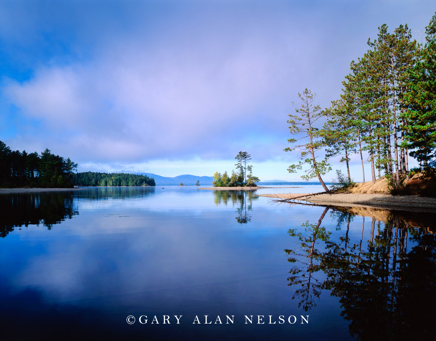 maine, moosehead lake, lily bay state park, island, photo